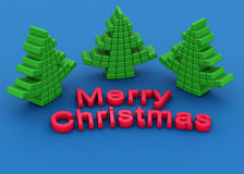 Rubber stationery christmas tree greeting Stock Image