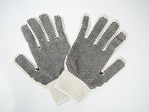Rubber Stippled Work Gloves Royalty Free Stock Images