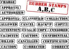 rubber stämpel för abc-samling Arkivfoto