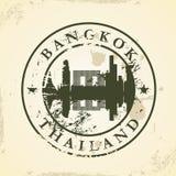 Rubber stämpel för Grunge med Bangkok, Thailand Arkivbilder