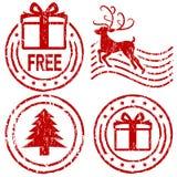 rubber stämplar för jul Arkivbild