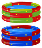 Rubber swimming pool in two colors. Illustration Royalty Free Stock Image