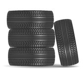 Rubber tire icon Royalty Free Stock Images