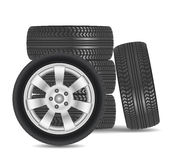 Rubber tire icon  on white background Stock Image