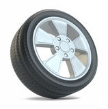 Rubber tire. Isolated on white Stock Photography