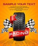 Rubber tire & racing symbols Stock Image