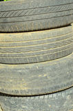 Rubber tire. A stack of worn out rubber tire Stock Photo