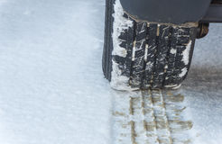 Rubber Tire Tracks Stock Photo