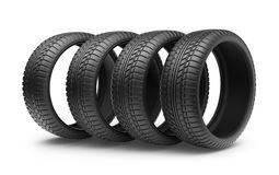 Rubber tire. Wheel 3D, Icon  Royalty Free Stock Photos