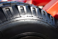 Rubber tire on the wheel Royalty Free Stock Photos