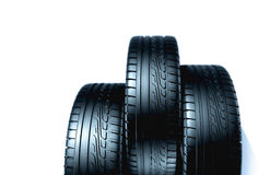 Rubber tires Stock Images