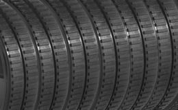 Rubber tires background stock photos