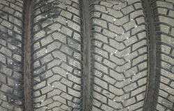 Rubber tires background. Royalty Free Stock Image
