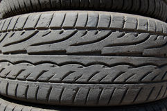 Rubber tires detail Royalty Free Stock Photos