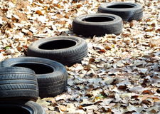 Rubber tires without Wheel Royalty Free Stock Photos