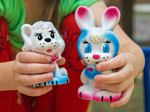 Rubber toy rabbit Stock Photos