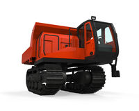 Rubber Track Crawler Carrier Stock Photo