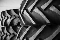 Rubber traktorgummihjul Fotografering för Bildbyråer
