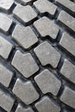 Rubber tread on tire Royalty Free Stock Photo
