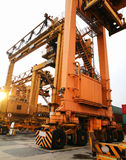 Rubber Tried Gantry Cranes RTG Royalty Free Stock Image