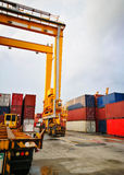 Rubber Tried Gantry Cranes RTG Stock Photo