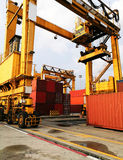 Rubber Tried Gantry Cranes RTG royalty free stock photography