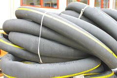 Rubber tube of large diameter Royalty Free Stock Photo