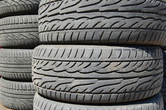 Rubber tyres Stock Image