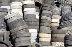 Rubber tyres Stock Images