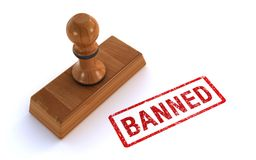 Rubber verboden zegel royalty-vrije illustratie