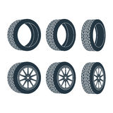 Rubber wheel tire rim drive car Stock Photo