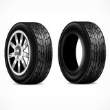 Rubber. Wheels on white Royalty Free Stock Photos