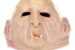 rubber white för halloween maskering Fotografering för Bildbyråer