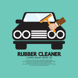 Rubber Window Cleaner Stock Image