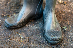 Rubber Work Boot Stock Image
