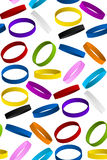 Rubber Wristband Bracelet Seamless Pattern Backgro Stock Photo