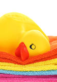 Rubber yellow duck Royalty Free Stock Photo