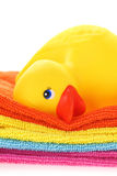 Rubber yellow duck Royalty Free Stock Photos
