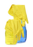 Rubber yellow gloves Royalty Free Stock Photography