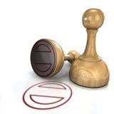 Rubber Zegel Royalty-vrije Stock Afbeelding