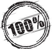 Rubber zegel met de tekst honderd percenten Stock Foto