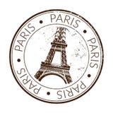 Rubber zegel Parijs Stock Fotografie