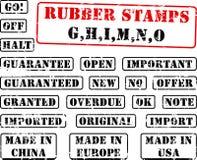 Rubber zegelinzameling GHIMNO vector illustratie