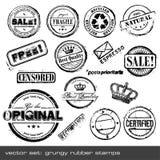 Rubber zegels Royalty-vrije Stock Afbeelding