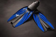 Rubber zwarte en blauwe vinnen royalty-vrije stock fotografie
