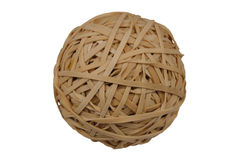 Rubberband Ball. Isolated over a white background with clipping path Royalty Free Stock Photo