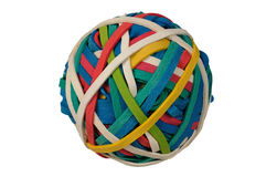 Rubberband Ball. Colored Rubberband Ball isolated over a white background with clipping path Royalty Free Stock Image