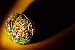 Rubberband Ball. With Creative Lighting Royalty Free Stock Photos