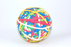 Rubberband ball. Colorful ball of rubber bands Stock Image