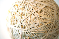 Rubberband Ball Close Up Stock Photo